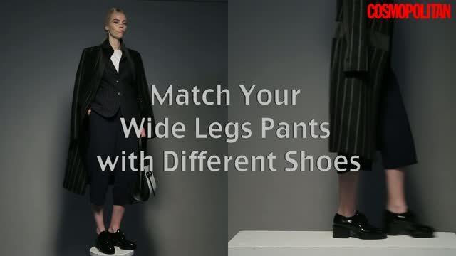 型格闊腳褲該配襯什麼鞋款?